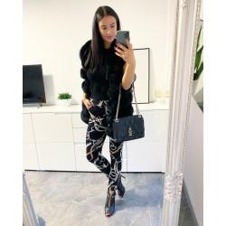 Černé vyteplené kalhoty Oriental velikost S