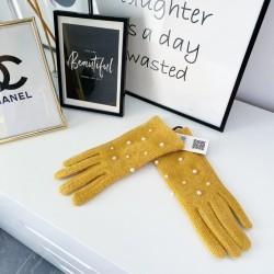 Hořčicové rukavice perličky