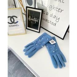 Světle modré rukavice perličky