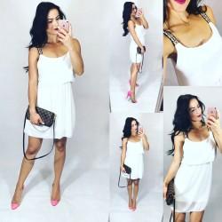 e7e7146c8a3e Bílé letní šaty Fantastic