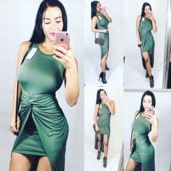 Khaki šaty Miss