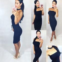 Černé šaty CHoker