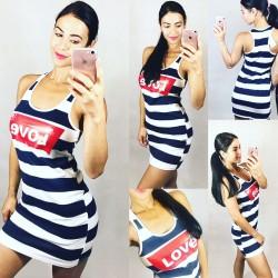 Pruhované šaty LOVE