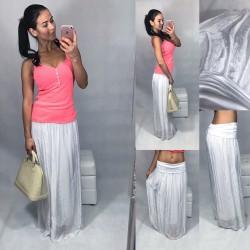 Bílá luxusní maxi sukně
