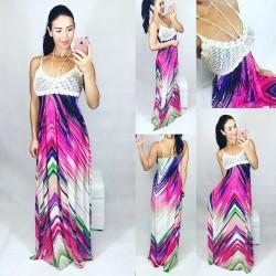 Maxi šaty Abstrakt model A