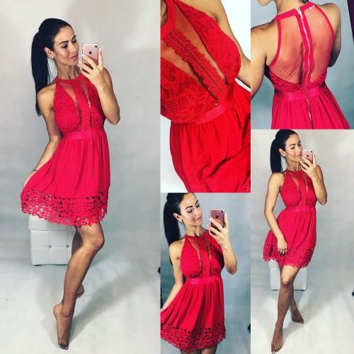 Rudé šaty Romantic vel S a M