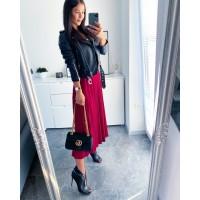 Černá skládaná sukně velikost S M L