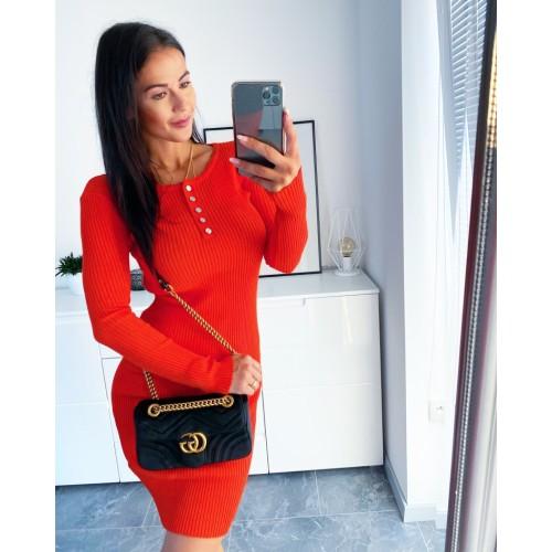Oranžové šaty Evie velikost S/M