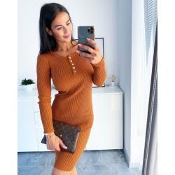 Camel šaty Evie velikost S/M