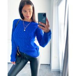 Královsky modrý svetr Saly
