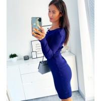 Tmavě modré šaty Evie velikost S/M