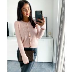 Růžový luxusní kabátek s kašmírem Belive