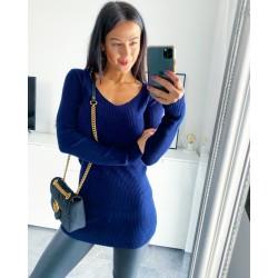 Tmavě modré šaty Isabel