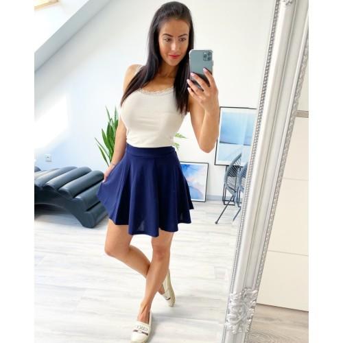 Tmavě modrá sukně skater