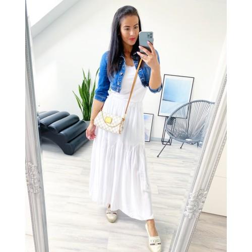 Bílá  maxi bohatá sukně