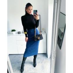 Modrá teplá sukně