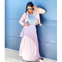 Růžová maxi sukně