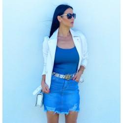 Modrá trhaná sukně vel M