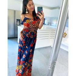 Květované maxi šaty model C