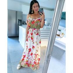 Květované maxi šaty model D