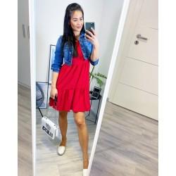 Rudé šaty Spring