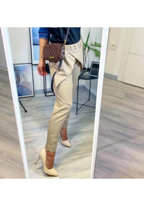 Krémové kalhoty Stylo