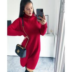 Vínovo-červené šaty Enjoy