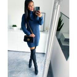 Středně modré šaty Enjoy