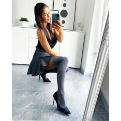 Šedo-černé punčochové kalhoty Layla 20/40 den vel S