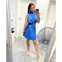 Středně modré šaty Montana