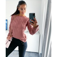 Růžový svetr Saly
