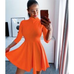 Oranžové neon skater šaty