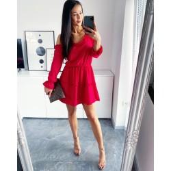 Rudé šaty Samanta