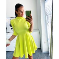 Neon žluté skater šaty  VADA!!!!