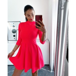 Neon růžové skater šaty