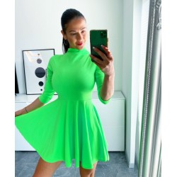Neon zelené skater šaty