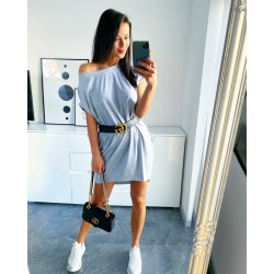Šedé šaty Seňorita + dárek