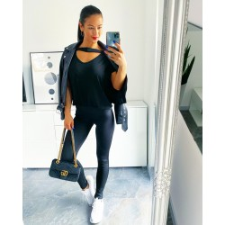 Černé  basic kalhoty Dora S M L