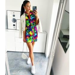 Barevné šaty Multicolor