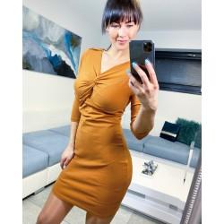 Hnědé šaty Emily