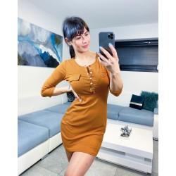 Hnědé šaty Dara