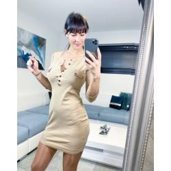 Krémové šaty Dara