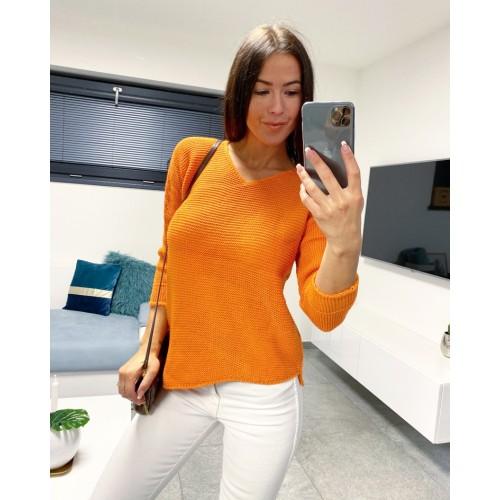Oranžový svetr Pola