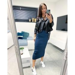 Modrá dlouhá sukně