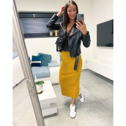 Hořčicová dlouhá sukně