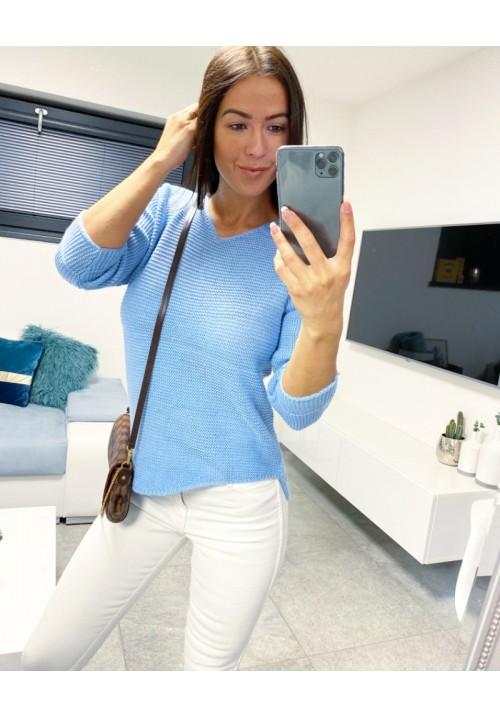 Blankytně modrý svetr Pola