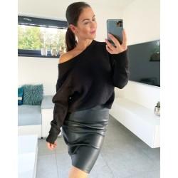 Černý luxusní svetr Daza