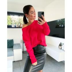 Luxusní svetr Daza červený
