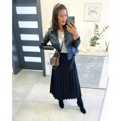 Černá plisovaná sukně  M L