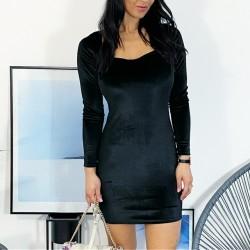 Semišové malé černé šaty vel S